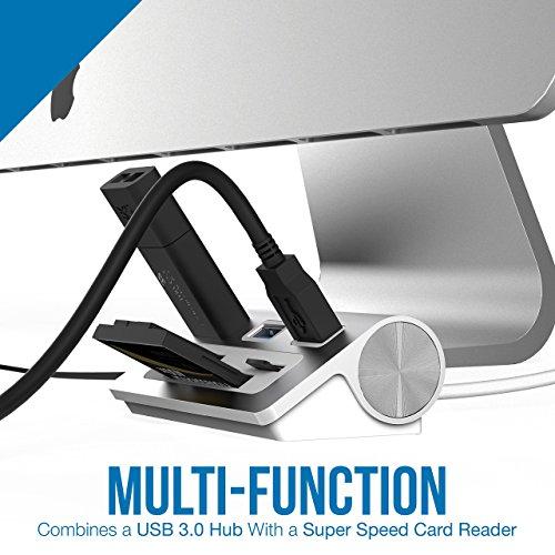 Sabrent - Adattatore in alluminio con 3 porte USB 3.0 e lettore schede...