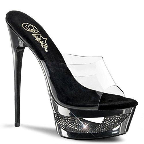 Pleaser Eclipse-601DM - sexy scarpe sandali con i tacchi alti e plateau 35-42, US-Damen:EU-38 / US-8 / UK-5