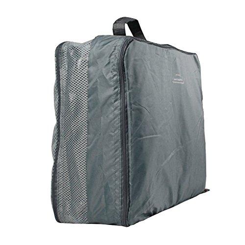 Set di 5casa e viaggio borsa, WITERY essenziale nella borsa, vestiti biancheria intima per imballaggio Custodia Viaggio Bagagli organizzatori, manico sacchetti in rete, Purple (viola) - HOMA0007-05 Gray
