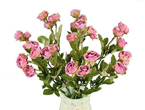 GMMH 27 Rosen Bund 35 cm Hoch Seidenblumen Kunstblumen Rose Hochzeit Blumenstrauß