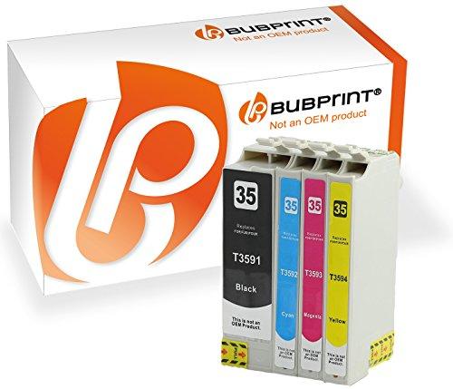4 Bubprint Druckerpatronen kompatibel für Epson T3591 T3592 T3593 T3594 XL 35XL WorkForce Pro WF-4720DWF WF-4725DWF WF-4730DTWF WF-4735DTWF WF-4740DTWF Multipack Set
