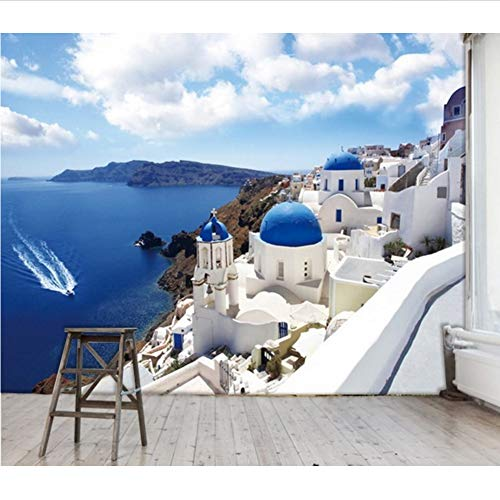 Schlafzimmer-zeitgenössische-sofa (Zxfcccky Große Wandtapete Tapete Wohnzimmer Sofa Schlafzimmer Tv-Einstellung Wand Ist Zeitgenössisch Und Vertrag Griechischen Ägäis-400X280CM)