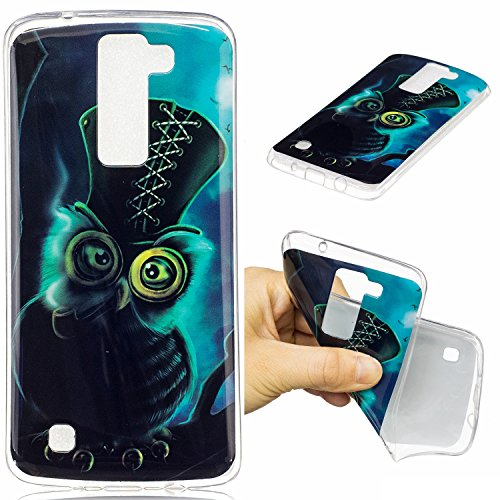 LG K7/K8 Hülle Case, Cozy Hut® [Fun-Serie] Ultra Dünn [Crystal Case] Transparent Soft-Flex Handyhülle / Bumper-Style Premium-TPU Silikon / Perfekte Passform / Kratzfest Schutzhülle für LG K7/K8 Case, LG K7/K8 Cover, K7/K8 Case, K7/K8 Cover - Eule