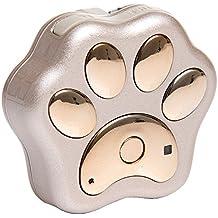 Portable lindo perro pata patrón perro gato Collar Pet GPS + Localizador WiFi resplandor Contra la pérdida diaria vida impermeable en tiempo real de seguimiento Tracker control remoto con cordón Oro