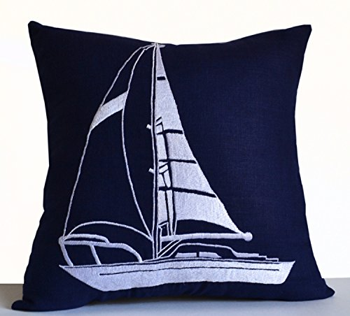 Amore Beaute Handmade Cuscino decorativo, tema nautico Design Throw Pillow