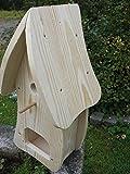 Dekorativer Nistkasten(NB1)-mit Vogelfutterhaus zum selbst bauen-Bausatz-Vogelhaus-Vogelhäuschen-sauberste Verarbeitung-Vogelhaus Garten Deko - 3