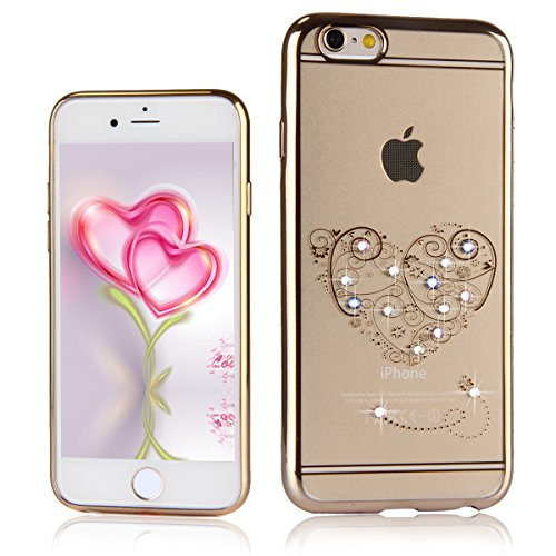 Coque Housse Etui pour iPhone 6 Plus/6S Plus, iPhone 6 Plus Coque en Silicone Slim Coque Flamingos Motif Transparent Soft Etui Housse, iPhone 6S Plus Silicone Case TPU Protective Gel Cover Skin,Ukayfe Love lace