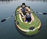 IZZY SPORT 2 Personen Schlauchboot Hydro Force Voyager 300 Angelboot TÜV/GS Maße: 243 x 102 x 31 cm, 3 Kammern, Tragkraft 170 Kg inklusive Kombi-Ruder Bestway Angelrutenhalter