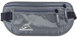 Hopsooken Hüfttaschen Gürteltasche 2-Pocket-Kapazität Bauchtasche Deluxe Reise Bauchtasche RFID-Blocker Damen & Herren