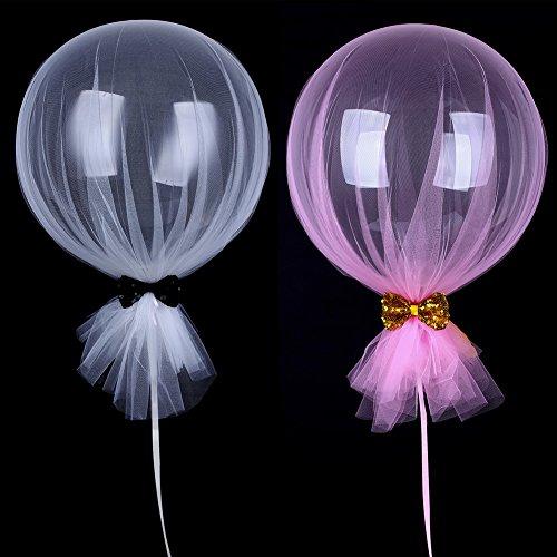 ansparent Luftballons 4PCS Bubble Ball für Hochzeit Party Dekoration Great Seiten vorschlagen Feiern Dekorationen Ballon Geburtstag Weihnachten, Best Supplies 45,7cm Bobo Mesh Schleife (Luftballons Und Parteien)