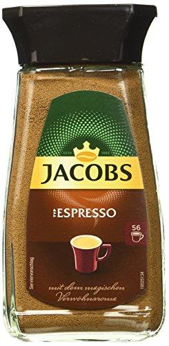 Jacobs löslicher Kaffee Espresso, 6er Pack, 6 x 100 g Instant Kaffee