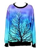 TDOLAH Pull Femme Imprimé Sweat-shirts Galaxy à la mode Hoodies Fantaisie avec Manches Longues Col ras du cou