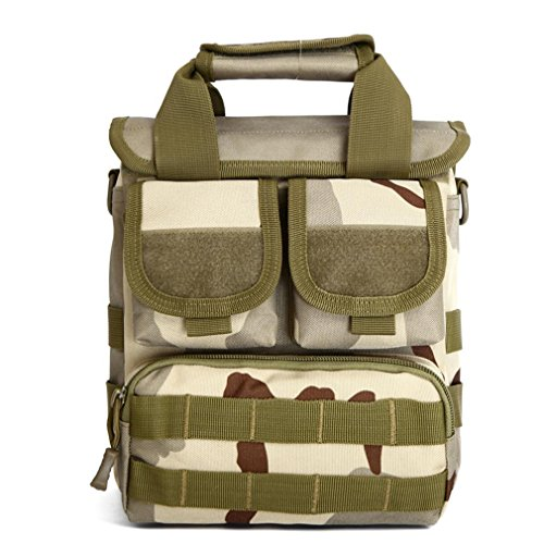 Männer und Frauen ACU Tarnhandtasche / praktisches taktisches Paket Militärmoles Angriffsbeutel / Wüste digitale Schulterbeutel three camouflage