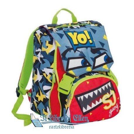 Seven- zaino sdoppiabile school pack go, colore azzurro, 6c2001802_000