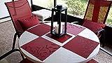 CHAOCHI Tischsets 6er Set Rutschfest Abwaschbar Platzsets Rot PVC Hitzebeständig Platzdeckchen Vinyl Tischmatten Schmutzabweisend Platzmatten für Zuhause Restaurant Küche Speisetisch,30 x 45cm - 7