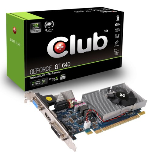 CLUB3D GeForce GT 640 1024MB DDR3 GeForce GT 640 1GB GDDR3 - Grafikkarten (GeForce GT 640, 1 GB, GDDR3, 128 Bit, 2560 x 1600 Pixel, PCI Express - Gt Grafikkarte 640