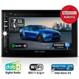 Autoradio Android AMG-3030 | 2DIN | GPS Navigation (Europa-Karten) | DAB+ | DVD-Player | Touchscreen 7 Zoll | Quad-Core CPU | 16GB integr. | WLAN | Bluetooth iOS und Android | MirrorLink | OBD 2 | RDS