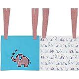 Kadambaby Set of 2 Hanging Storage Organizer for Diapers, Elephant, Blue