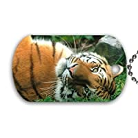 Yanteng Tiger Dog Tag with chain necklace Great Gift Idea