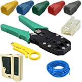 Kabalo 30m Network Ethernet LAN Cat6 RJ45 Cable Tester Crimper Tool Connector Boot Pack - cable de red