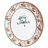 Telisha Style rétro Fleur Rose ovale Home Cadre photo Photo Résine 20,3x 25,4cm Grande