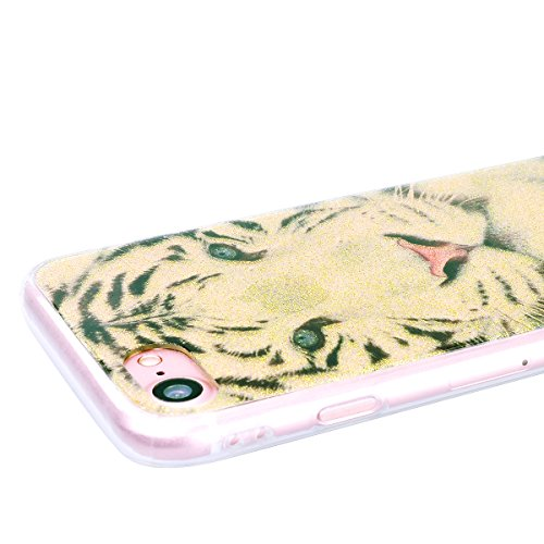 WE LOVE CASE Coque iPhone 7 Plus, Souple Gel Coque iPhone 7 Plus Silicone Paillette Glitter Brillant Motif Fine Coque Girly Resistante, Coque de Protection Bumper Coque Apple iPhone 7 Plus Dreamcatche Fleur
