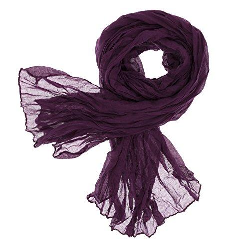 DOLCE ABBRACCIO CRAZY MAMA Damen Schal Halstuch Tuch Damenschal aus Baumwolle MASH Schals Ganzjährig Frühling Sommer (Pflaume)