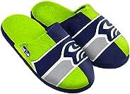 Seattle Seahawks Split Color Slide Slipper Large
