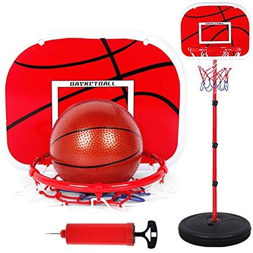 sketball Stehen Höhe Einstellbar Basketball Ball Hoop Spielzeug Set Basketball Junge Training Praxis Zubehör (Farbe : Rot) ()
