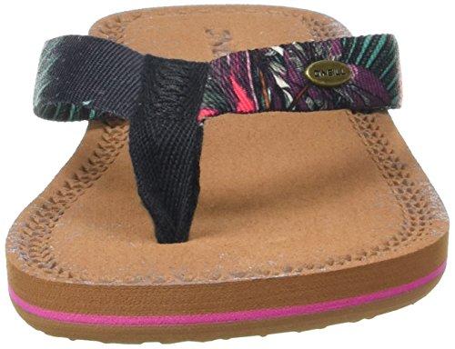 O'Neill - Fw Woven Strap Flip Flop, Scarpe da Spiaggia e Piscina Donna Nero (Black Aop)