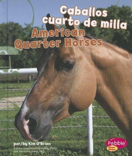 Caballos Cuarto De Milla/ American Quarter Horses (Pebble Bilingue/Bilingual: Cabollos/Horses) por Kim O'Brien