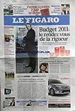 FIGARO (LE) [No 20578] du 29/09/2010 - BUDGET 2011 / LE RENDEZ-VOUS DE LA RIGUEUR - AU PS LES ENNEMIS DE AUBRY NE DESARMENT PAS - LE CONSEIL DE PARIS AUTORISE LES FEMMES A PORTER LE PANTALON - MICHAEL DOUGLAS REVIENT A WALL STREET 23 ANS APRES - BOSE