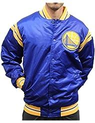 "Golden State Warriors NBA Men's Starter ""The Enforcer"" Premium Satin Jacket Veste"