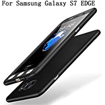 Samsung Galaxy S7 EDGE Coque Protection Souple PC 2 en 1 Full Cover Adamark 360 Housse Integrale Bumper Etui Case Accessoires Ultra Fin Et Discret Pour Samsung Galaxy S7 EDGE(Sans protecteur de film en verre trempé) (noir)