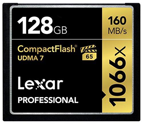 Lexar Professional VPG-65 CompactFlash-Karte, 1066x, 16GB 128 GB (Memory 16gb Lexar Card)