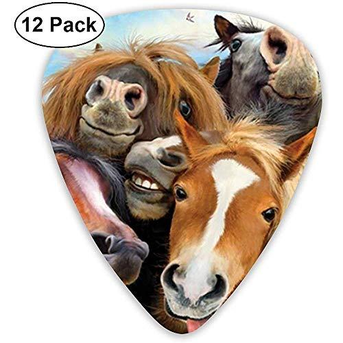 Plektren Horses Selfie Sampler Plektren - 12er-Pack Enthält dünne, mittlere und schwere Instrumente