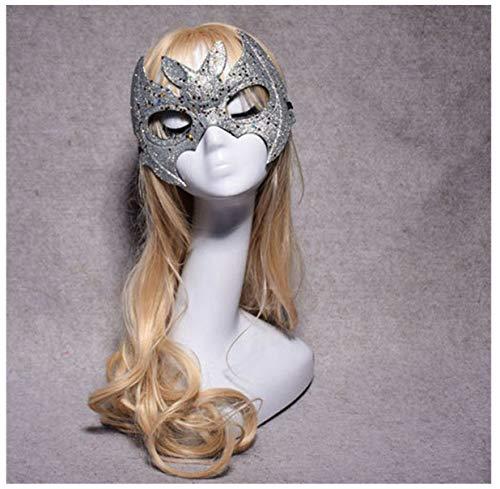 WASAIO Halloween halbe Gesichtsmaske Fledermaus - Ted Für Erwachsene Kostüm Hat