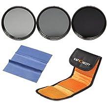 ND Filtro 62mm, K&F Concept Filtro ND2 4 8 3 Pcs Filtro Neutro Kit + Panno di Pulizia + Filtri Custodia/Borsa/Caso/Carry bag/Case per Canon 7D 700D 600D 70D 60D 650D 550D Nikon D7100 D80 D90 D7000 D5200 D3200 D5100 D3200 D5300 DSLR Cameras