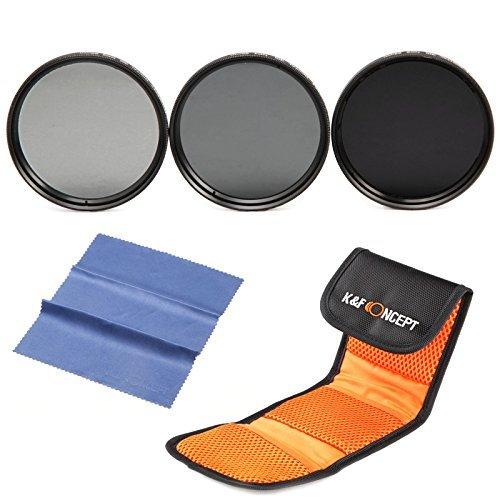 K&F Concept® ND Filter Set 62mm Graufilter ND2 ND4 ND8 Filter 62mm