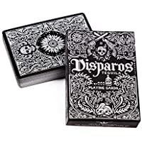 Ellusionist Disparos Black (Silver) Poker Size Playing Cards