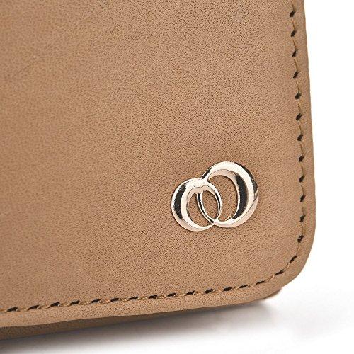 Kroo Cuir véritable téléphone portable Coque d'embrayage pour Nokia Lumia 830/930/735/625/925 marron peau