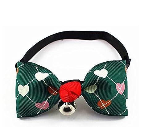 Zhuhaixmy 5Pcs Adjustable Pet Dog Puppy Cat Bow Butterfly Tie Necktie Neck Collar Love green