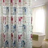 liuhoueDuschvorhänge Badezimmer wand vorhänge Polyester-tuch wasserdicht dicker Bad vorhang-F 200cm*180cm