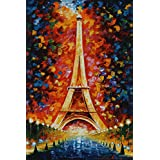 Love st - Eiffel Tower Painting Artistic - Poster for Home and Office