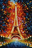 #8: Love st - Eiffel Tower Painting Artistic - Poster for Home and Office