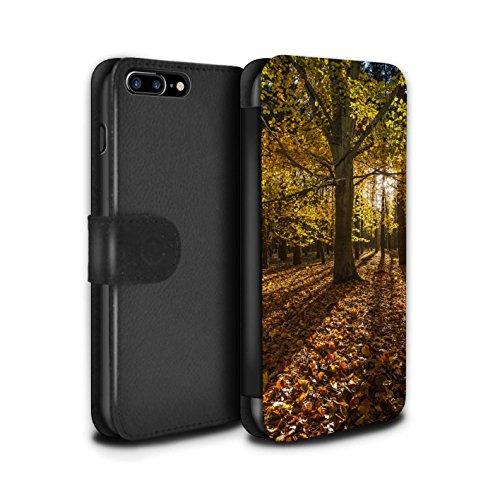 Stuff4 Coque/Etui/Housse Cuir PU Case/Cover pour Apple iPhone 7 Plus / Feuilles Design / Automne Saison Collection Forêt