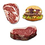 US Black Angus Beef Probierpaket - Ribeye/Strip Loin/Burger & Brötchen