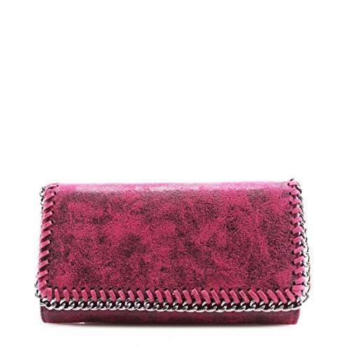 51trtXS5O9L - Ladies Chain Detail Bifold Long Coin Purse Womens Wallet Card Holder New UK