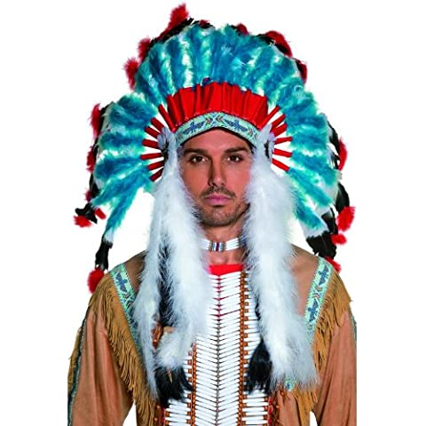 Western Indian Authentic Feathered Costume Headress Adult