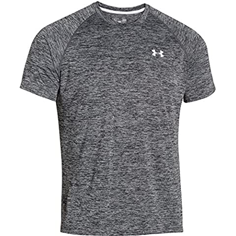 Under Armour Top UA Tech Short Sleeve Tee - Camiseta de fitness para hombre, color negro, talla S